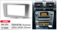 Carav 11-665 (2-DIN TOYOTA Avensis 2002-2008 Silver)