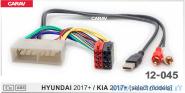 Carav 12-045 (HYUNDAI/KIA 2017+ (AUX+USB))
