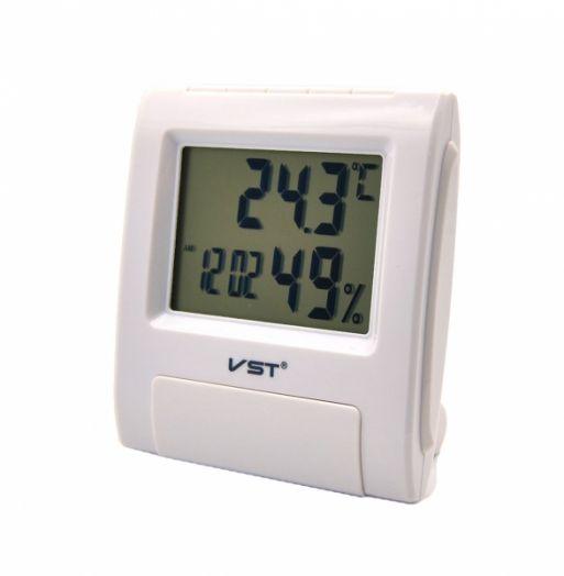 Часы будильник VST-7090S (БЕЛЫЕ)