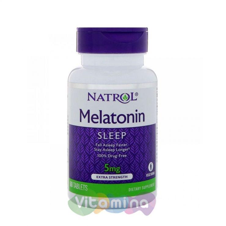 Natrol Мелатонин 5 мг, Melatonin, 60 табл.