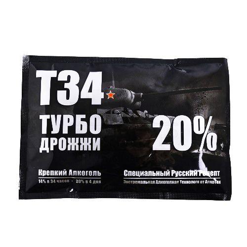 Дрожжи Alcotec Т34 Turbo 165 гр, (50 шт/кор)