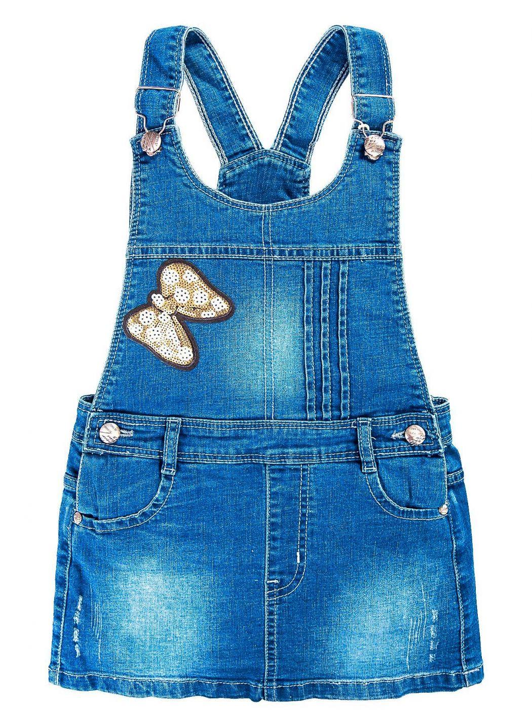 Сарафан джинсовый для девочек 3-7 лет Bonito BK737C