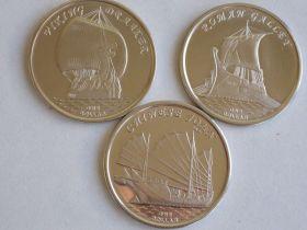 Знаменитые Парусники Набор монет 1 доллар Острова Гилберта 2019 (8 серия )