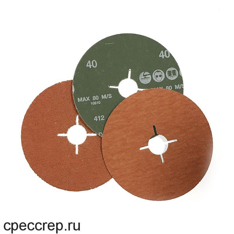 RoxelPro Фибровый шлифовальный круг ROXPRO 125 х 22мм, керамика, Р60