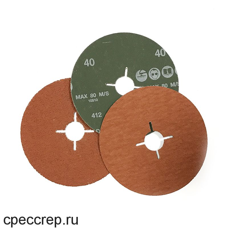 RoxelPro Фибровый шлифовальный круг ROXPRO 180 х 22мм, керамика, Р60