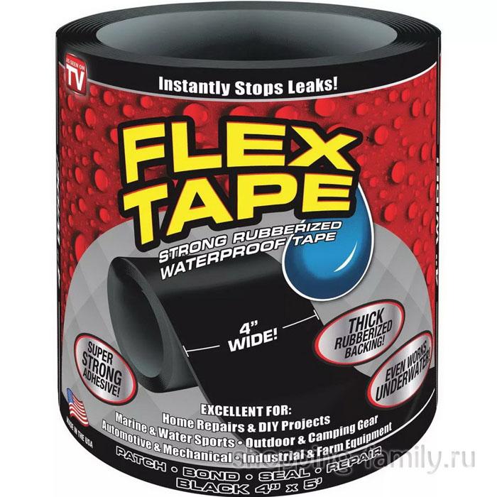 Сверхсильная клейкая лента Flex Tape (10*152 см), черная