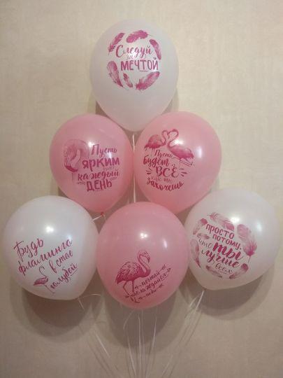 Следуй за мечтой, пожелания, фламинго шар латексный с гелием