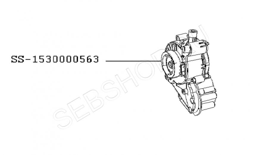 Редуктор для мясорубки Moulinex HV8 моделей ME68... Артикул SS-1530000563