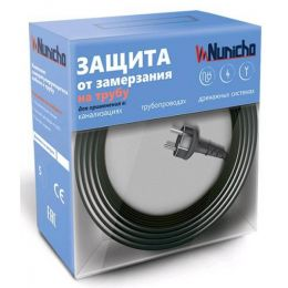 Готовый комплект кабеля NUNICHO снаружи трубы 16 Вт/м - 2 метра.+ (холодный ввод  с вилкой- 2 метра).