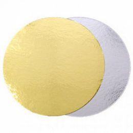 Подложка для торта Золото толщина 0,8мм  D 26см
