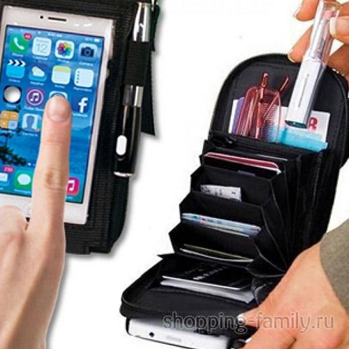 Портмоне-чехол для смартфона 2 в 1 Touch Purse