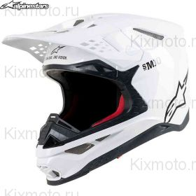 Шлем Alpinestars Supertech S-M10 Solid, Белый