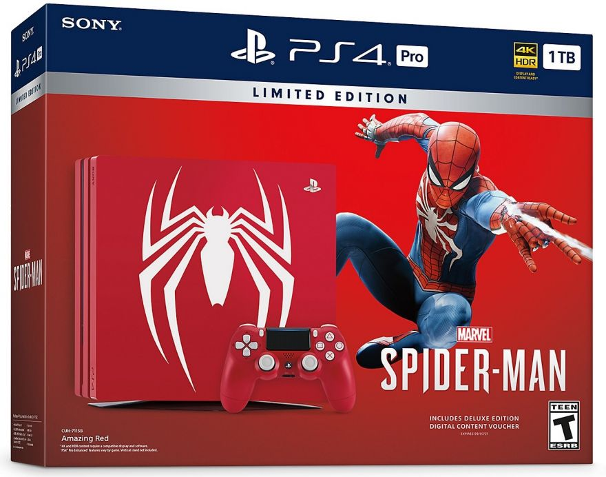 Игровая приставка Sony Playstation 4 PRO 1TB Marvel's Spider-Man Limited Edition (CUH-7116B)