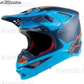 Шлем Alpinestars Supertech S-M10 Meta, Черный/синий