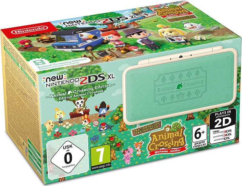 Игровая приставка New Nintendo 2DS XL Animal Crossing Edition + игра Animal Crossing: New Leaf – Welcome amiibo