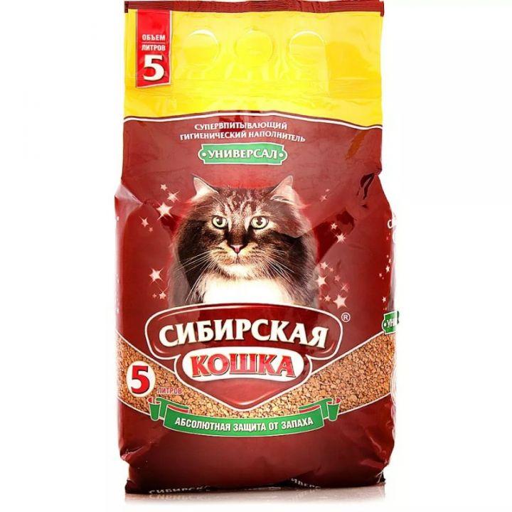 Наполнитель д/туалетов Сибирская кошка Универсал 5л Впитывающий