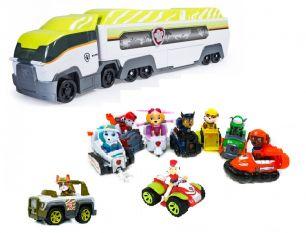 Большой игровой набор из 9-ти спасателей с машинками и патрулевоза (Щенячий патруль)