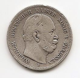 2 марки Германская империя (Пруссия)1876