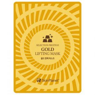 Skin Planet GOLD LIFTING MASK Маска для лица тканевая с золотом лифтинг эффект 25гр