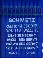 Иглы промышленные для трикотажа Schmetz DBx1 SES SERV7 №110 10 шт