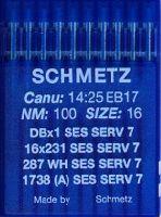 Иглы промышленные для трикотажа Schmetz DBx1 SES SERV7 №100 10 шт