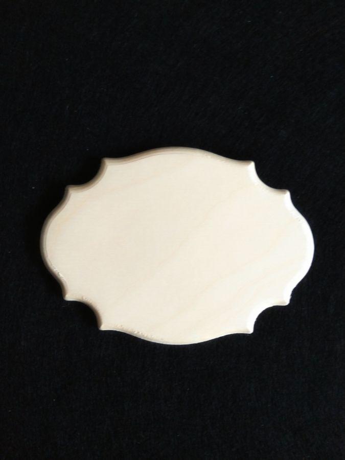 Бирка-накладка резной овал, 9 см