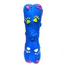 Игрушка-пищалка для собак Косточка с лапками, 15 см, Цвет: Синий