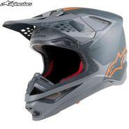 Шлем Alpinestars Supertech S-M10 Meta, Чёрно-оранжевый