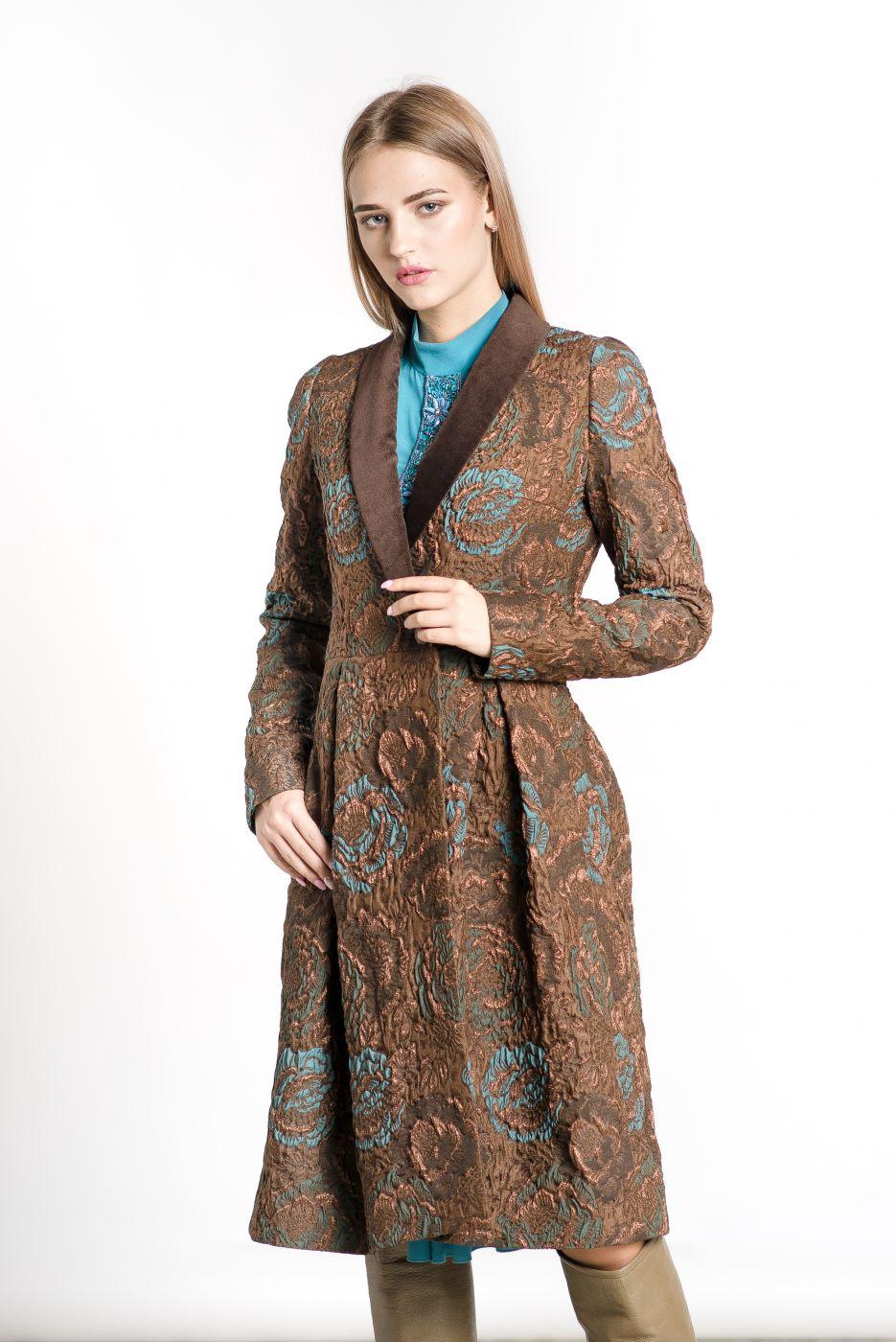 Пальто женское из жаккарда ROMAN RUSH