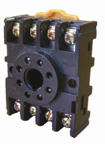 Разьем Р8Ц - цокольный 8-pin на DIN-рейку/плоскость TDM