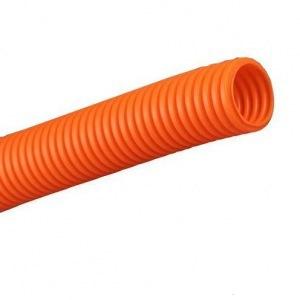 Труба гофр.ПНД d 20 с зондом (100 м) легкая оранжевая TDM