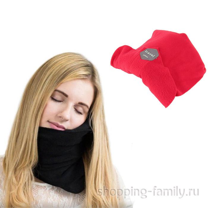 Ортопедический шарф - подушка Travel Pillow, красный