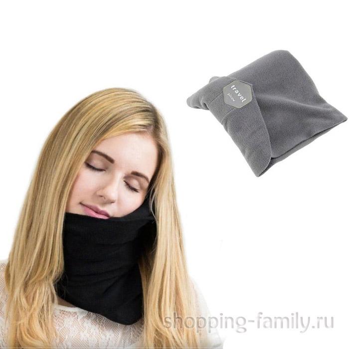Ортопедический шарф - подушка Travel Pillow, серый