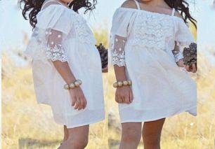 платье кружевное, рост 110