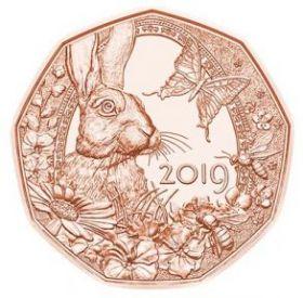 Весеннее пробуждение (Пасхальная монета) 5 евро Австрия 2019 Распродажа!