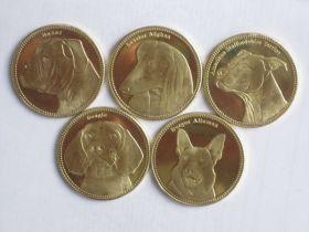 Фауна(Собаки) набор монет  5 шиллингов Сомалилэнд 2019 (5 монет)