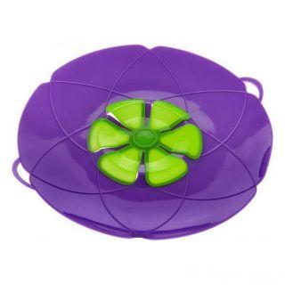 Крышка Невыкипайка силиконовая, Диаметр: 25 см, Цвет: Фиолетовый