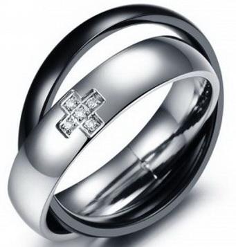 Двойное кольцо 07-370ST034m
