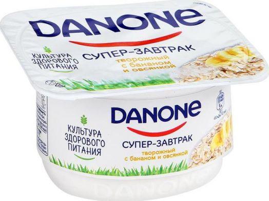 Творожок Данон 3,2% банан/овсянка 130г Данон Индустрия