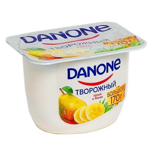 Продукт творожный Данон Экономный 3,6% груша/банан 170г Данон Индустрия