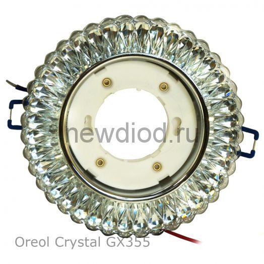 Точечный светильник Oreol Crystal GX355 130/90мм под лампу GX53 H4 белый