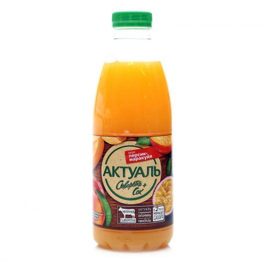 Напиток Актуаль на сыворотке персик/маракуйя 930г Юнимилк