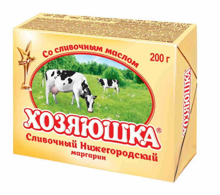 Маргарин Хозяюшка Сливочный 200г фольга