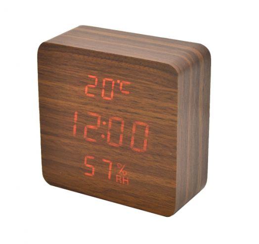 Часы эл. VST872S-3 крас.цифры (ТЕМНО-коричневый)
