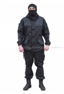 Костюм Prival Горка-3 Охрана куртка/брюки, ткань Рип-стоп /черный (Артикул: OPR003-02)