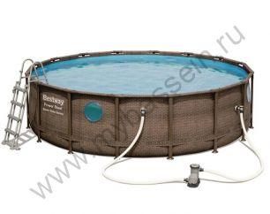 Каркасный бассейн Bestway Ротанг 4,88х1,22 м с картриджным фильтром