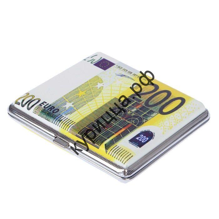 """Портсигар """"Двести евро"""", 9х10 см"""