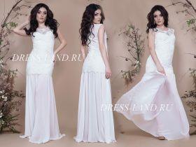 Белое облегающее вечернее платье
