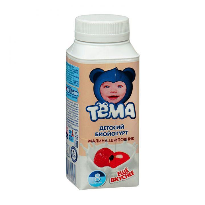 Йогурт Тёма 2.8% питьевой шиповник/малина 200г Юнимилк