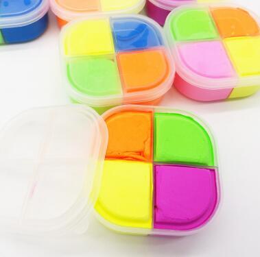 Слайм 4 цвета в контейнере